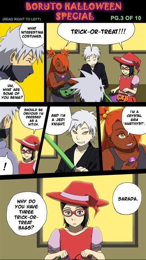 boruto comic boruto halloween special pg 3 of 10 by botanofspiritworld