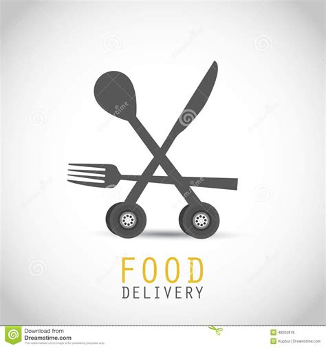 Grubhub E Gift Card - food delivery design stock vector image 48202876