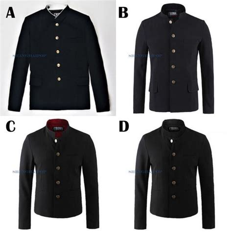 Blazer Gakuran single breasted tunic jacket blazer japanese school gakuran slim fit ebay