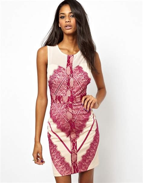 Lace Bodycon Dress Original elise elise bodycon dress in eyelash lace