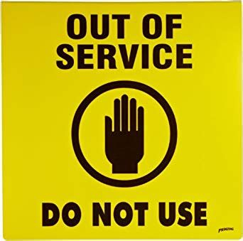 Amazon Com Brady 46890 Prinzing Sign Out Of Service Industrial Scientific Out Of Service Sign Template