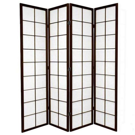 Privacy Screen Room Divider 4 Panel Room Divider Privacy Screen Brown Zen 176cm Buy Dividers Screens
