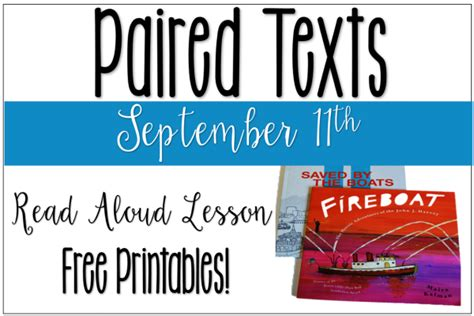 fireboat book lesson september 11th lesson free printables to use with paired