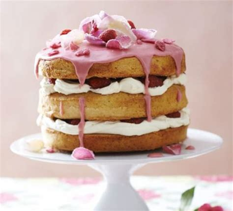English rose cake recipe   BBC Good Food