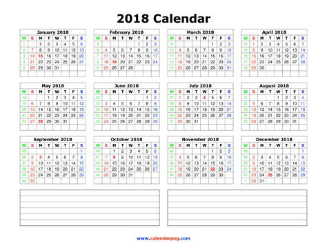2018 acid calendar year in a box 2018 calendar png