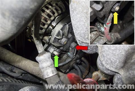 volvo  alternator replacement   pelican parts diy maintenance article