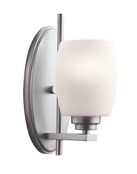 single bathroom light fixtures kichler 5096ni brushed nickel eileen 4 5 quot wide single bulb