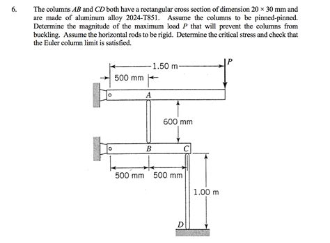 rectangular cross section the columns ab and cd both have a rectangular cros