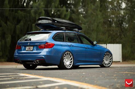 bmw 328i sports wagon on vossen wheels