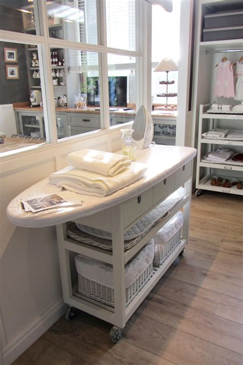space saving kitchen islands take a ikea kitchen island and attach an ironing board