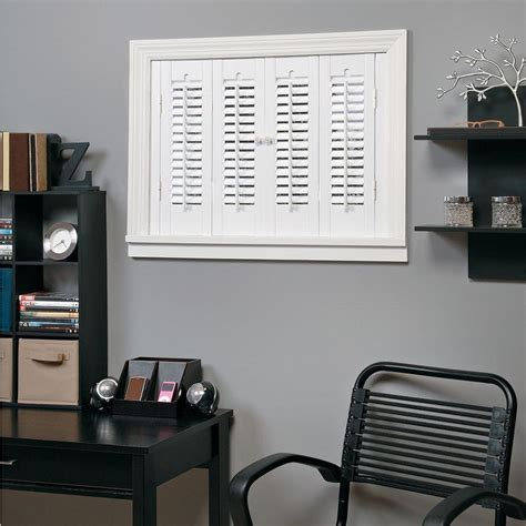 shutters home depot interior homebasics traditional faux wood white interior shutter
