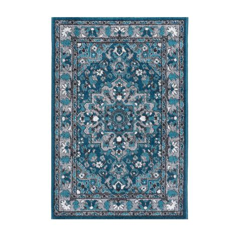2 x 3 accent rugs tayse rugs milan blue 2 ft x 3 ft accent rug mln4106 2x3