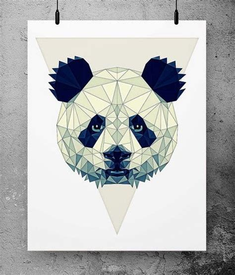 tattoo panda geometric lovely geometric panda head tattoo design tattooimages biz