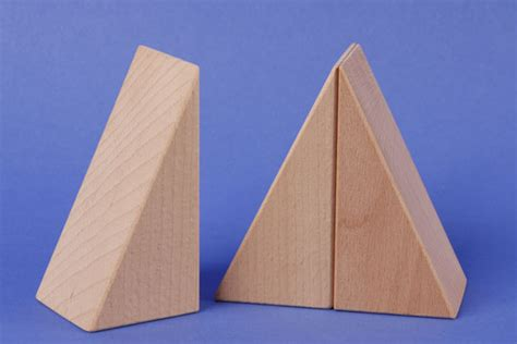 Triangle Blocks wooden triangle blocks 90x45x45mm special wooden