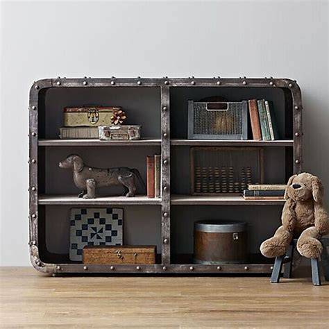 american iron wood display cabinet old retro minimalist living room bookshelf library shelves vintage american country to do the old metal lockers wood