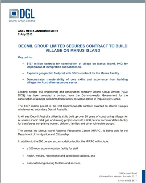 Contract Variations Letter Australia S End Of The Bargain Let S Get Some Sense Of The Manus Island Costs Michael Smith News