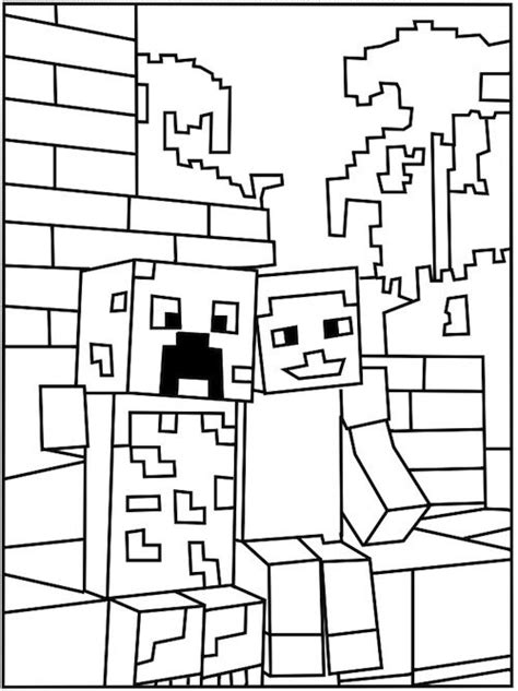 printable minecraft creeper coloring page toby and tim