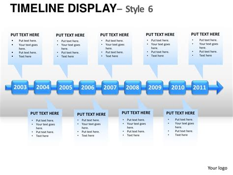 timeline roadmap template roadmap timeline display style 6 powerpoint presentation