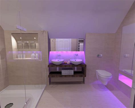bathroom mood lighting by bagnodesign glasgow