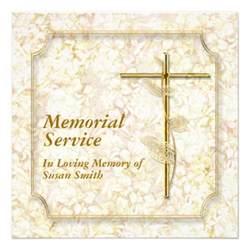 memorial service invitation announcement memory 5 25 quot square invitation card zazzle