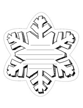 snowflake pattern to write on snowflake writing template by katerina s tpt store tpt
