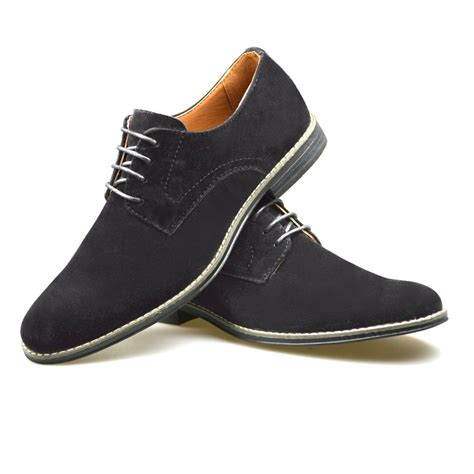 mens smart office wedding shoes faux suede formal casual