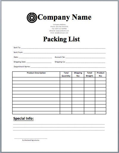 17 best ideas about packing list template on pinterest