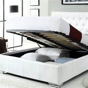White Platform Bed With Storage Ath White Modern Bed With Storage Platform