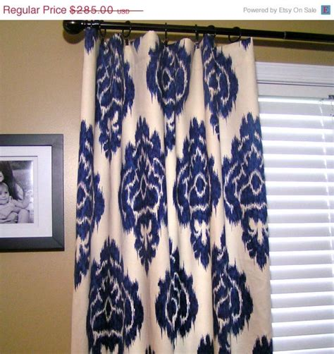 Navy Blue Ikat Curtains 46 Best Images About Curtains On Pinterest Robert Allen Lattices And Fabrics