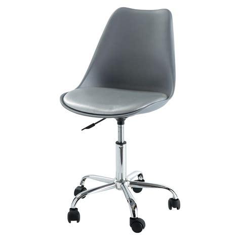 chaise bureau chaise de bureau grise bristol maisons du monde