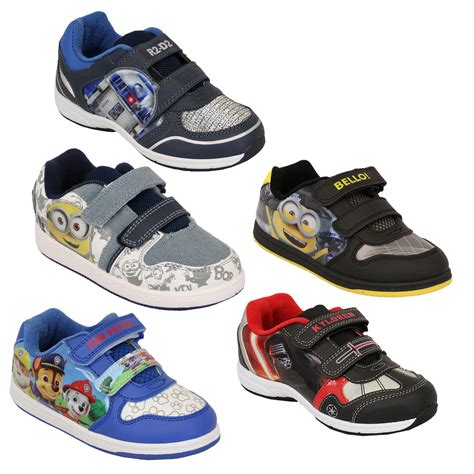 disney shoes boys trainers despicable me minion wars disney shoes