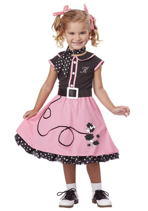 50s costumes toddler 50s poodle cutie costume