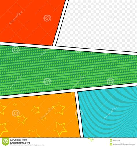comic book layout vector vector mock up of a typical comic book page stock vector