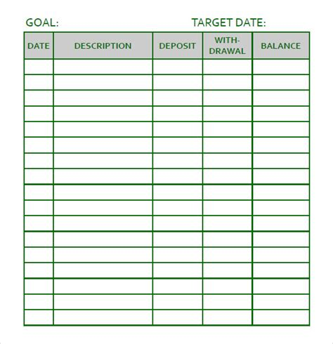 Sample Goal Tracking   7  Documents In PDF, Word