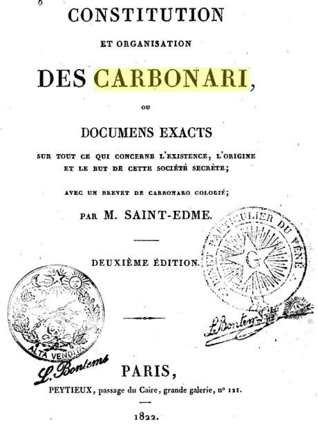 1333794983 constitution et organisation des carbonari roger lamouline une soci 233 t 233 secr 232 te arm 233 e les carbonari