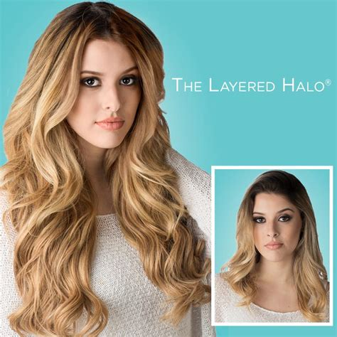 layered halo remy extensions halo couture hair extensions 18 quot layered halo 100 remy