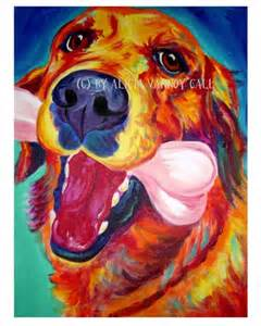 golden retriever pet portrait dawgart dog art pet portrait