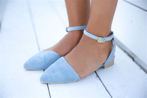 baby blue flats shoes shoes light blue ballet flats ballet flats flats open