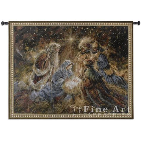 we three kings christmas tapestry wall hanging h42 quot x w53 quot