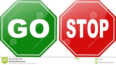 Go Go Go Stop go stop stock images image 5195524