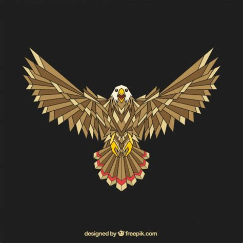 abstract eagle wallpaper abstract geometric eagle vector free download