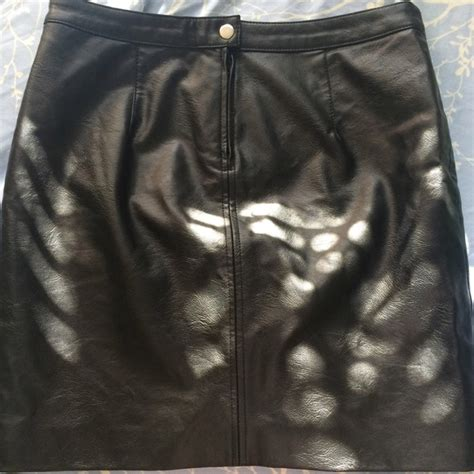 h m h m fitted leather skirt from s
