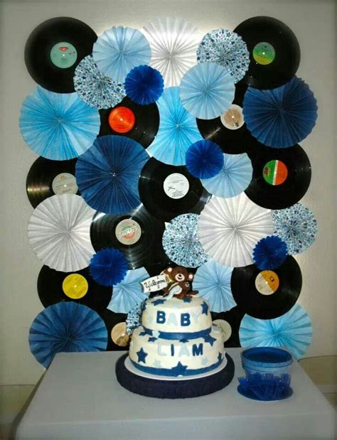 Rockstar Monkey Baby Shower Decorations by Rockstar Monkey Themed Baby Shower Record And Paper Fan