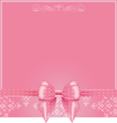 wallpaper pink bow pink background with pink bow vector 02 vector
