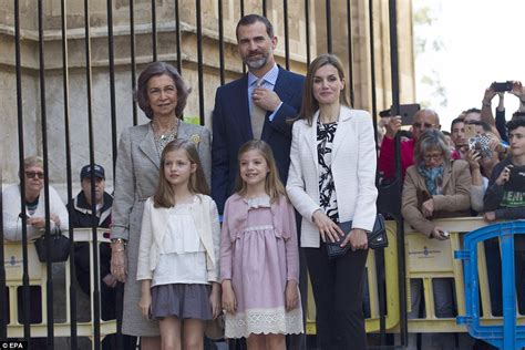 royal family spanish royals the queen and prince philip joined for easter service by