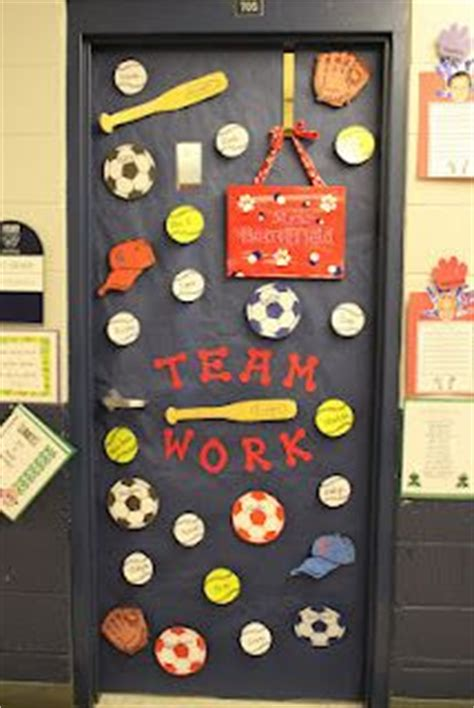 sports themed door decorations school ideas door decor on classroom door