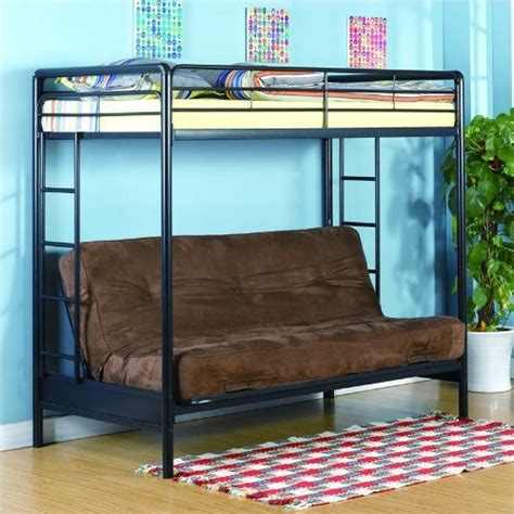 dorel home products twin over full futon bunk bed dorel home products twin over full futon bunk bed black