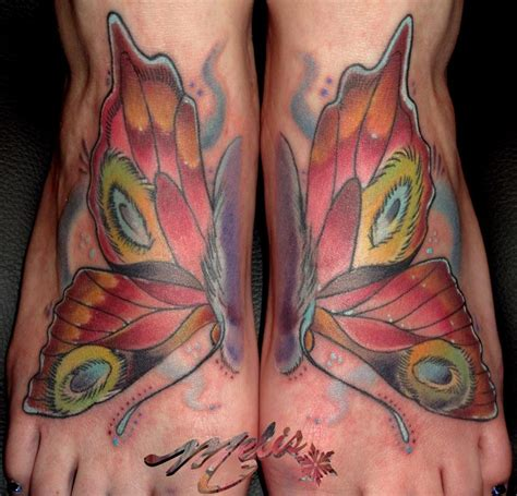 melissa tattoo flutterbye feeties by fusco tattoonow