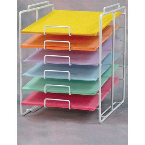 12x12 craft paper storage planet racks 6 slot scrapbook 12x12 wire paper display