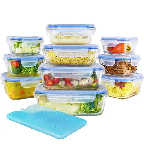 Sale Mainan Family Meal Set 20 glass food storage containers set with airtight